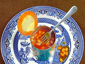 Meal Of Baked Beans Stock Image - Image: 9764261