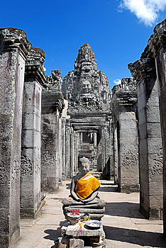 Bayon Temple Series 05 Stock Images - Image: 9766384