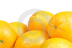 Oranges Isolated On White Royalty Free Stock Photos - Image: 9766868
