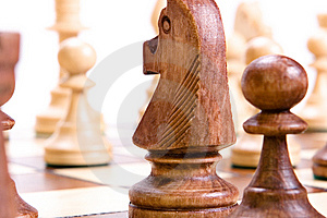 Chess On White. Royalty Free Stock Photos - Image: 9768018