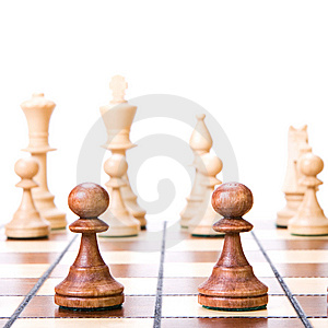 Chess On White. Stock Photo - Image: 9768030