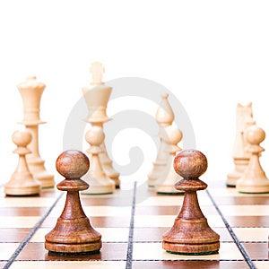 Chess On White. Stock Photo - Image: 9768030