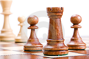 Chess On White. Royalty Free Stock Image - Image: 9768046