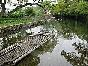 Chinese Bamboo Raft Stock Image - Image: 9768161