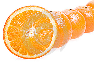Oranges Isolated On White Stock Photography - Image: 9769382