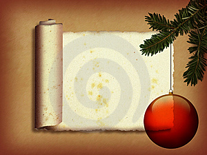 Christmas Scroll Stock Images - Image: 9772994