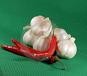 Garlic And Hot Chili Stock Image - Image: 9773051