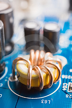 Coil On A Motherboard Royalty Free Stock Photos - Image: 9773258