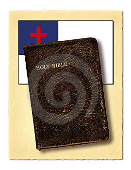 Flag And Holy Bible Stock Images - Image: 9773594