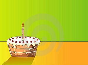 Cake With Cherries Stock Image - Image: 9773641