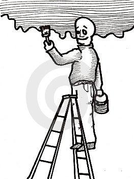Handyman Painting Stock Image - Image: 9775211