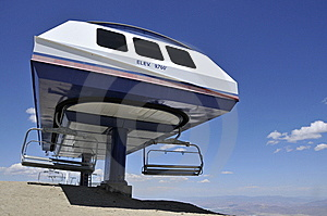 Mountain Ski Chair Lift Station Stock Images - Image: 9775824