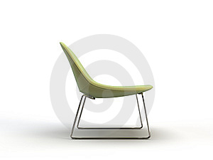 Green Modern Chair Stock Photo - Image: 9779920