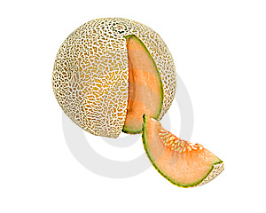 Melon And Its Segment Stock Photo - Image: 9780070
