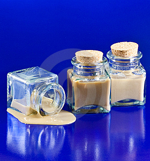Three Bottles With Whiskey Liquor On The Floor Royalty Free Stock Photography - Image: 9780947
