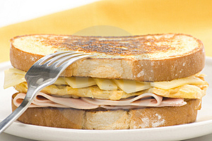 Tasty Sandwich Of Ham And Cheese Omelet Stock Photography - Image: 9785462