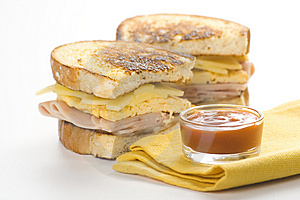 Tasty Sandwich Of Ham And Cheese Omelet Stock Images - Image: 9785704