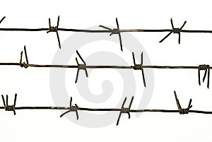 Three Pieces Of Barbed Wire Stock Photos - Image: 9786763