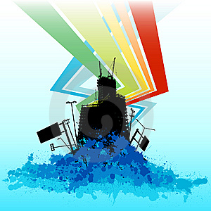 Colorful Background Building Vector Royalty Free Stock Image - Image: 9788116