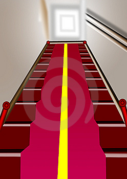 Wooden Staircase Royalty Free Stock Images - Image: 9789899