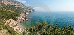 Horizontal Panorama Of Rocky Coastline Stock Photos - Image: 9790243