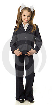 The Cherry Girl In A School Uniform Royalty Free Stock Photos - Image: 9792148