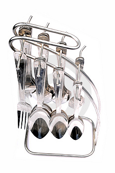 Spoons And Forks Kit Royalty Free Stock Photo - Image: 9794675