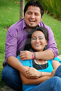 Attractive Hispanic Couple Stock Image - Image: 9795891