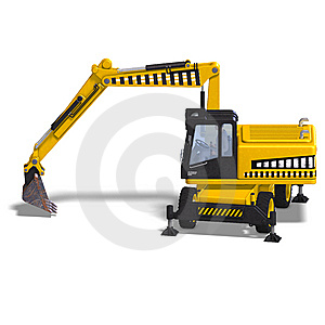 Wheel Excavator Stock Photos - Image: 9798913