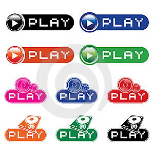 Set Of  Musical Buttons Stock Photography - Image: 9802372