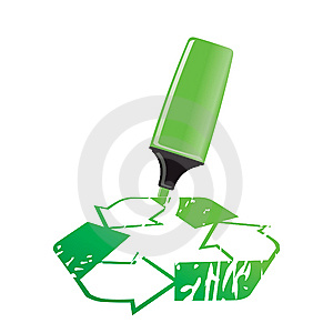 Vector Recycle Sign Stock Images - Image: 9805044