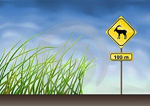 Goats Warning Sign Royalty Free Stock Photo - Image: 9805205