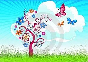 Joyful Spring/summer Background Stock Photos - Image: 9805873