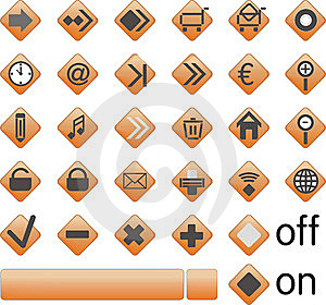 Web Icons, Buttons Royalty Free Stock Photo - Image: 9806225
