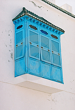 Blue Balcony Stock Image - Image: 9806451