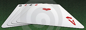 Poker Of Aces From Below Royalty Free Stock Photography - Image: 9806777