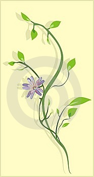 Flowering Sprig. Background For Card Royalty Free Stock Photos - Image: 9808038