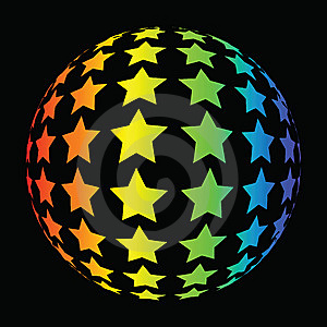 Colorful Star Background Royalty Free Stock Photography - Image: 9808497