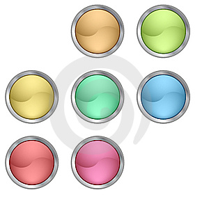 Color Buttons Royalty Free Stock Photos - Image: 9808768