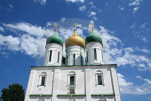 Domes Of The Dormition Cathedral Stock Images - Image: 9809134