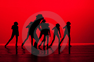 Dance In Silhoutte Stock Photos - Image: 9809613