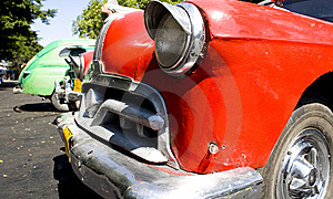 Old Style Red Car Stock Image - Image: 9811231