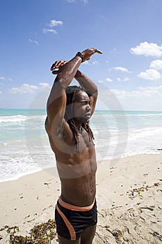 Man Raising Arms In Cuba Royalty Free Stock Images - Image: 9811509