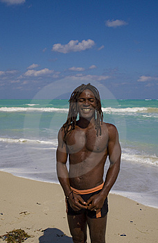 Smiling Man On The Beach In Cuba Royalty Free Stock Photos - Image: 9811558