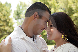 Happy Couple In The Park Stock Photos - Image: 9811683