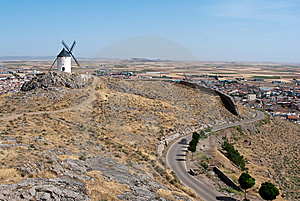 Windmill At Consuegra Stock Photography - Image: 9814042