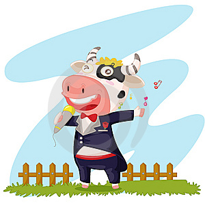 Singing Cow Stock Photos - Image: 9814973