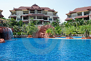 Tropical Resort Royalty Free Stock Images - Image: 9814999