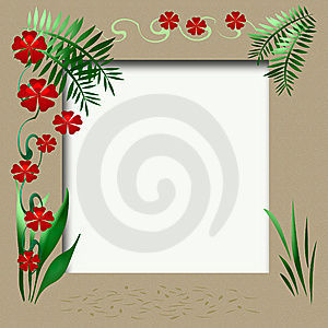 Tropic Vacation Scrapbook Royalty Free Stock Image - Image: 9815316