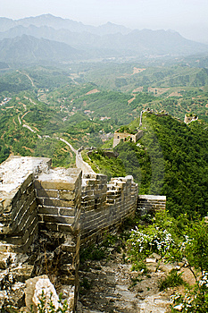 Landscape From The Top Of The Great Wall Stock Photography - Image: 9815422